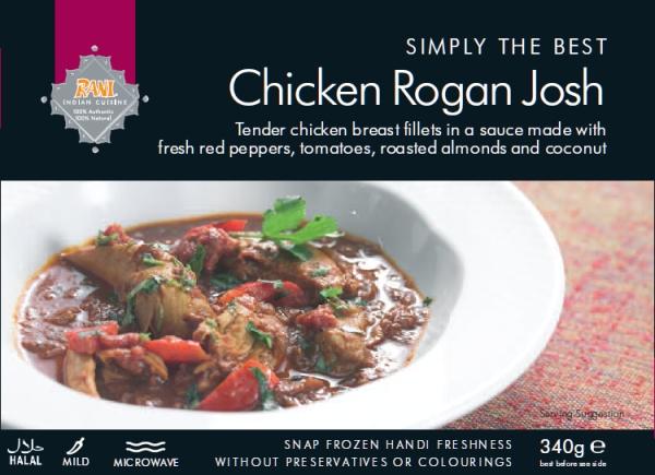 Chicken Rogan Josh Rani Frozen Foods